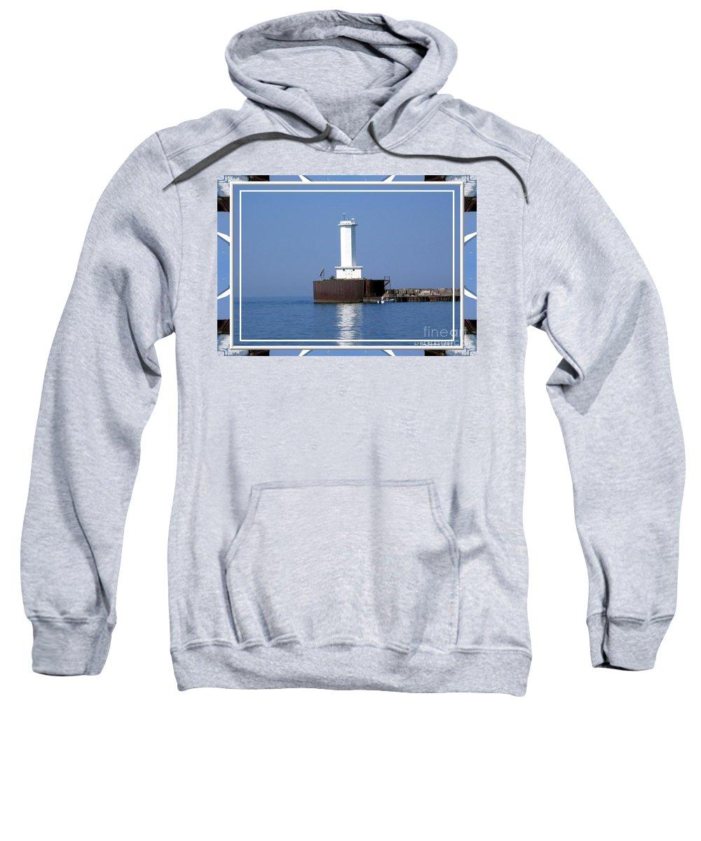 Buffalo Outer Breakwater Lighthouse Sweatshirt featuring the photograph Buffalo New York Outer Breakwater Lighthouse by Rose Santuci-Sofranko