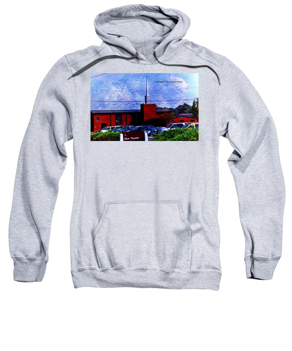Buildings Sweatshirt featuring the photograph Building As A Painting by Karl Rose