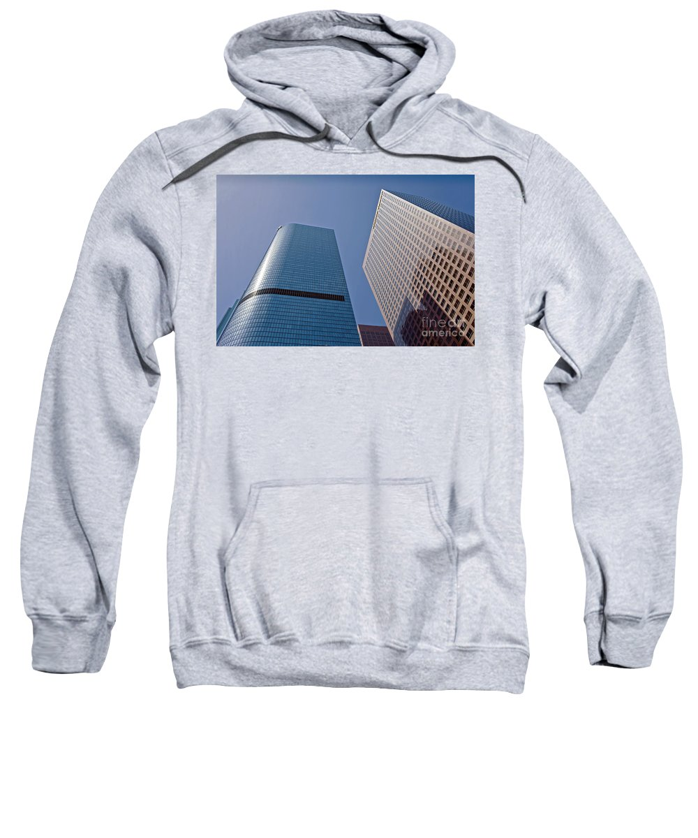 Bunker Hill Sweatshirt featuring the photograph Bunker Hill Financial District California Plaza by David Zanzinger