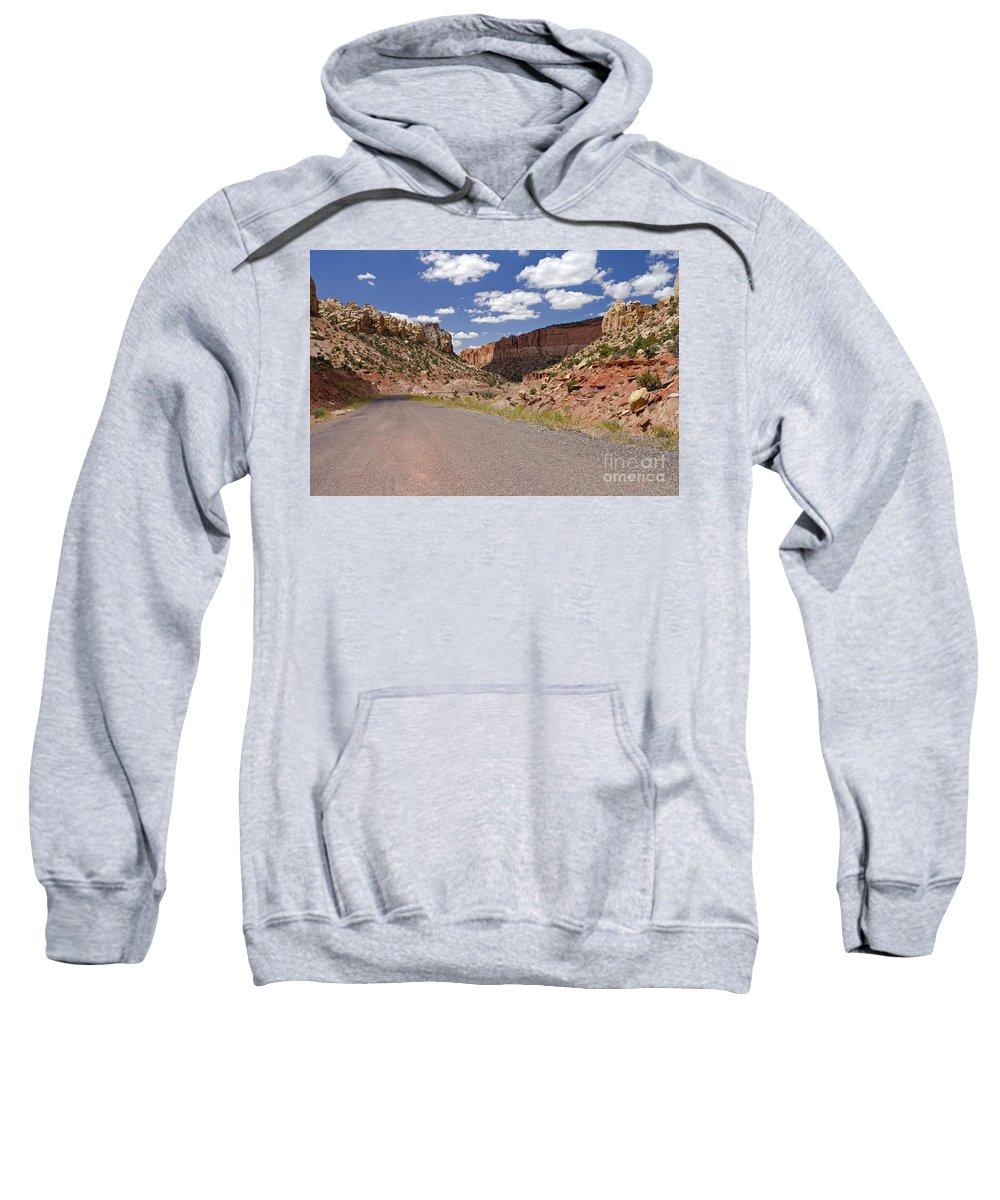 Utah Sweatshirt featuring the photograph Burr Trail Road Through Long Canyon by Rick Pisio