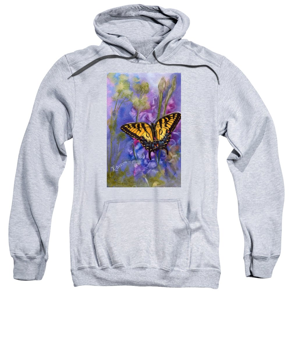 Butterfly Sweatshirt featuring the painting Butterfly by Katherine Berlin