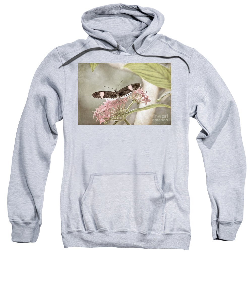 Nature Sweatshirt featuring the photograph Butterfly Whisper by Peggy Hughes