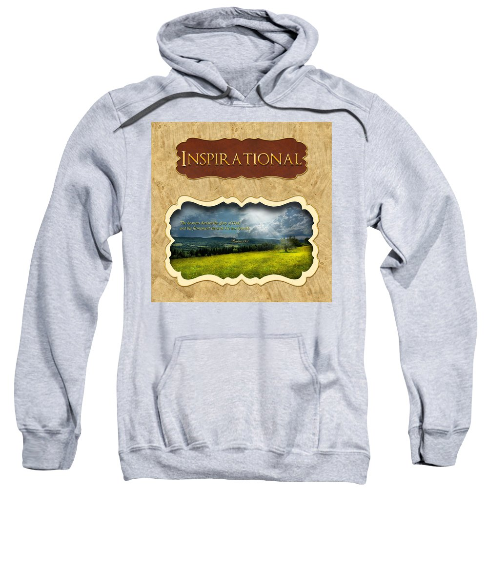 Inspirational Sweatshirt featuring the photograph Button - Inspirational by Mike Savad