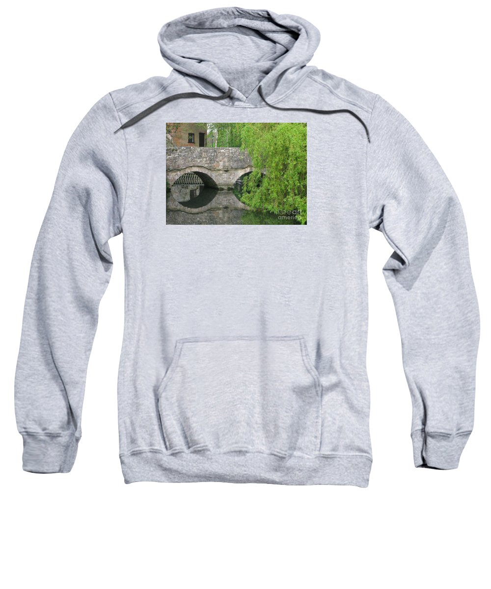 England Sweatshirt featuring the photograph By The Old Mill Stream by Ann Horn