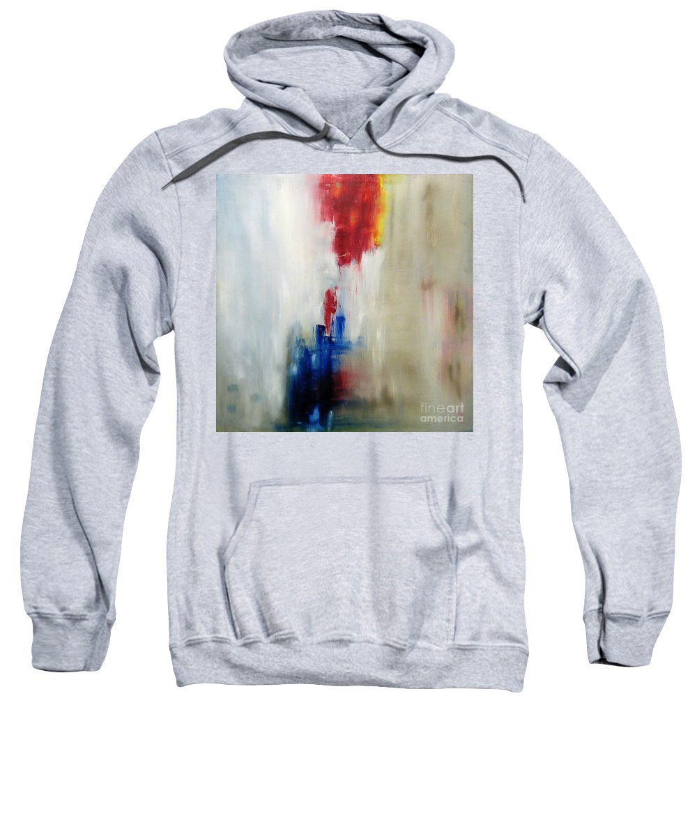 Abstract Painting Sweatshirt featuring the painting C-15 by Jeff Barrett