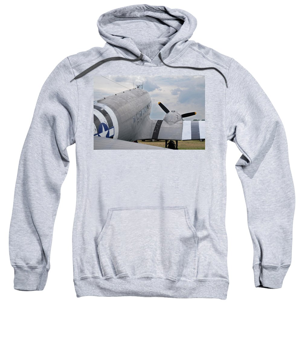 Aircraft Sweatshirt featuring the photograph C-47 3880 by Guy Whiteley