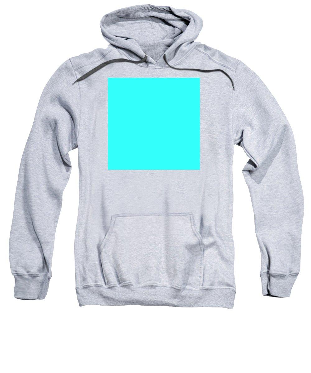 Abstract Sweatshirt featuring the digital art C.1.51-255-251.7x7 by Gareth Lewis