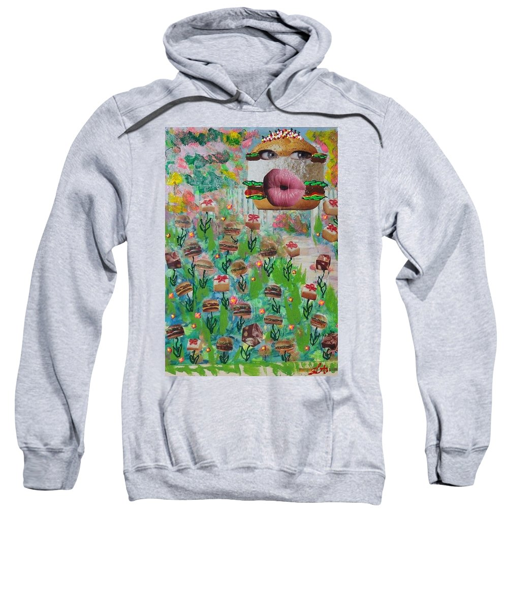 Animal Sweatshirt featuring the painting Cake Burger by Lisa Piper