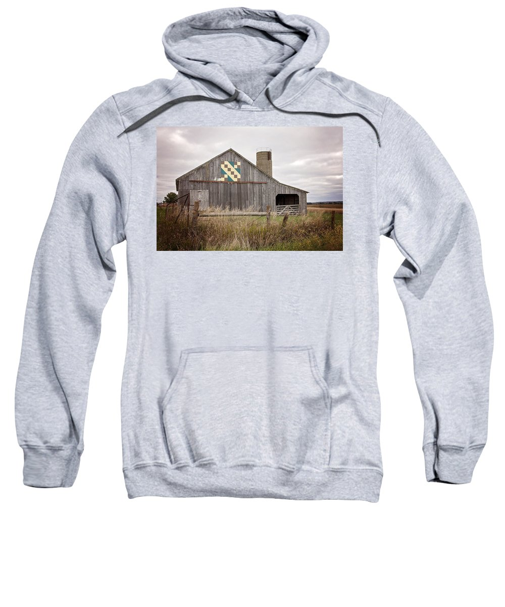 Barn Sweatshirt featuring the photograph Calico Barn by Deb Buchanan