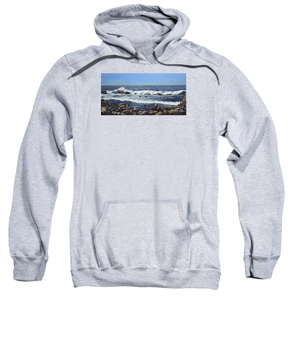 Art Sweatshirt featuring the painting California Coastline by Mary Rogers