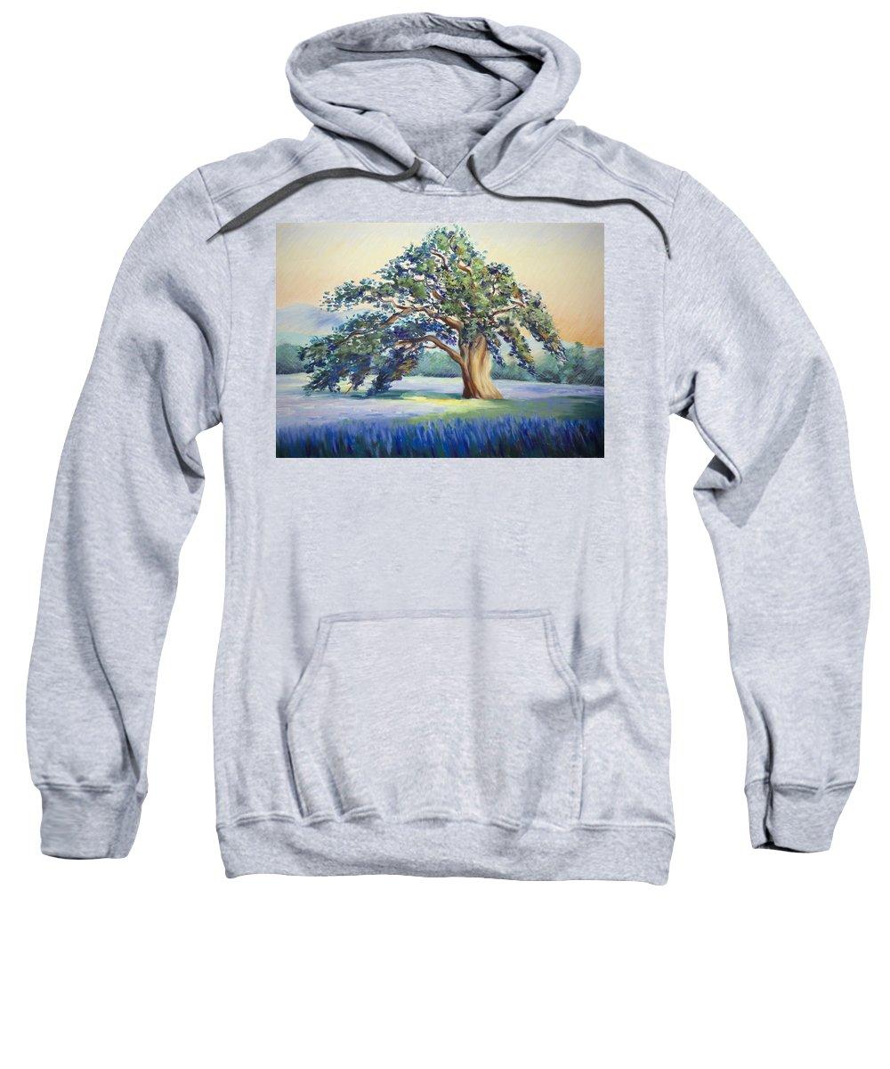 California Oak Sweatshirt featuring the pastel California Oak by Karin Leonard