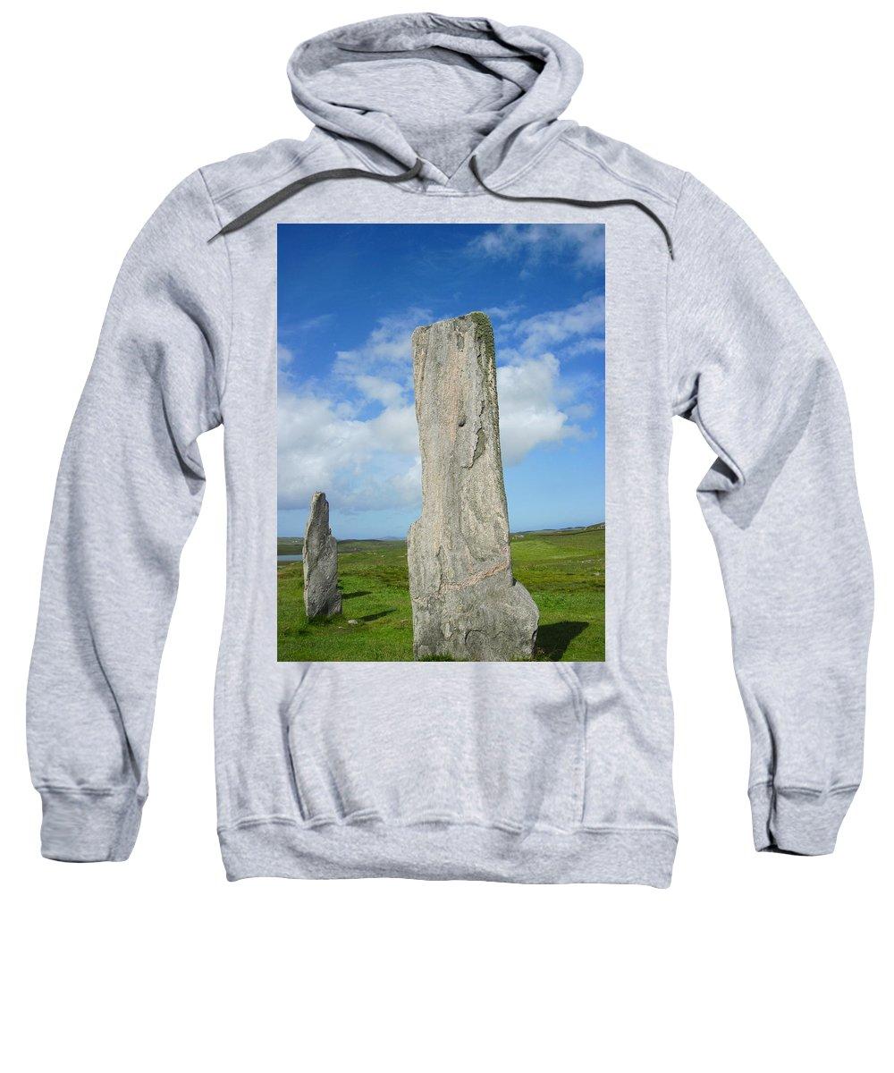 Callanish Quartz Stone Sweatshirt featuring the photograph Callanish Tall Stones by Denise Mazzocco