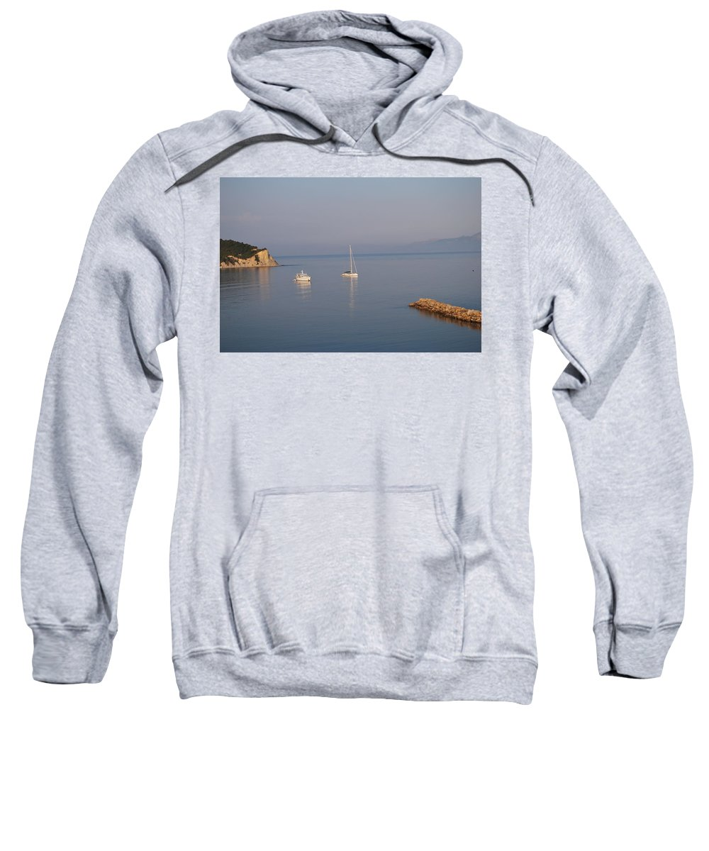 Calm Waters Sweatshirt featuring the photograph Calm Waters 4 by George Katechis