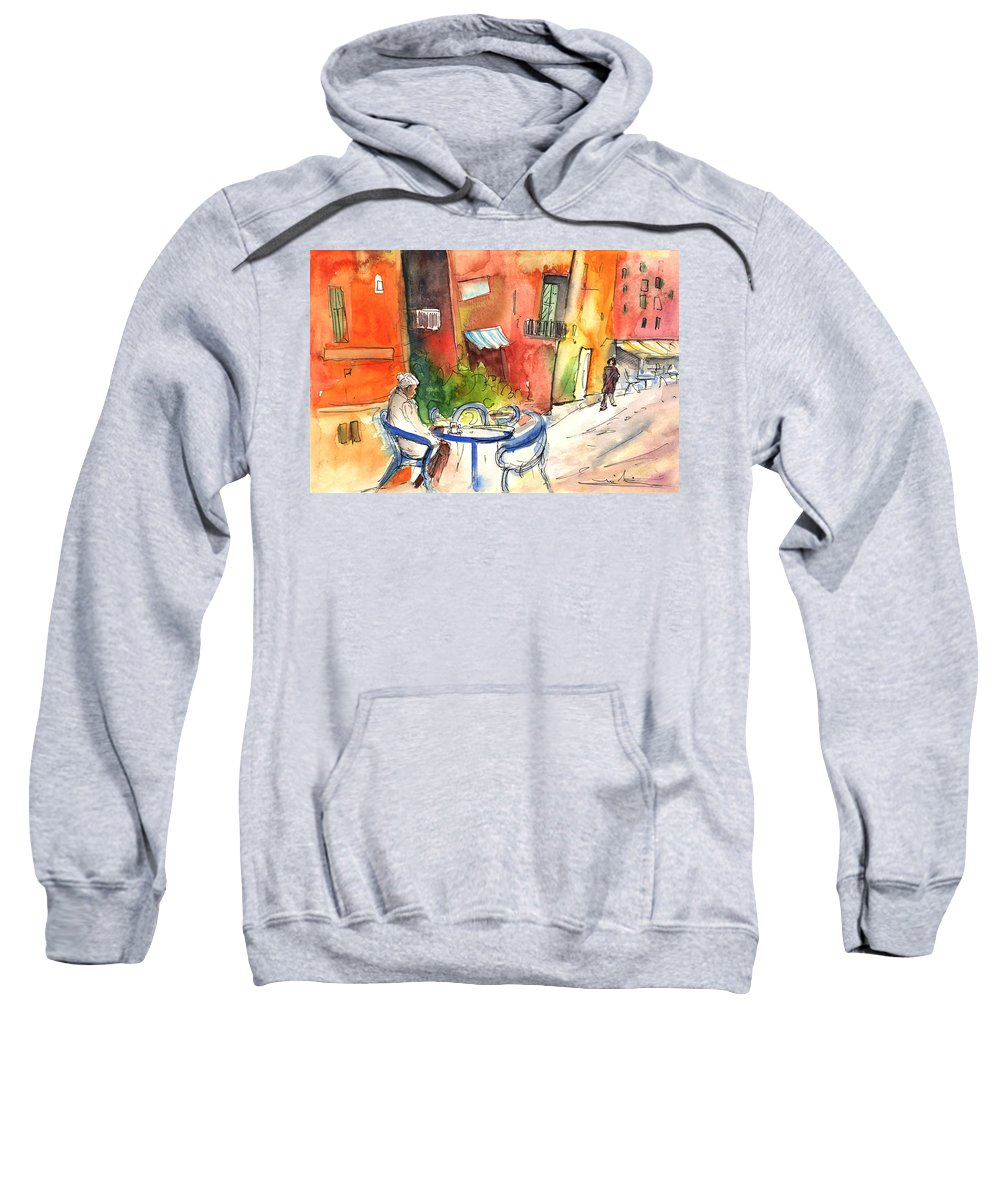 Italy Sweatshirt featuring the painting Camogli In Italy 05 by Miki De Goodaboom