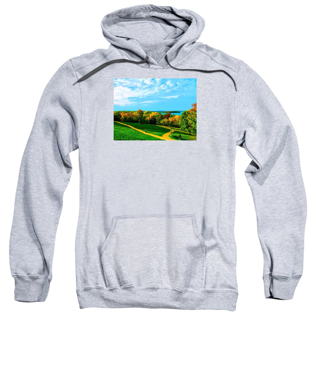 Fall Sweatshirt featuring the photograph Campus Fall Colors by Zafer Gurel