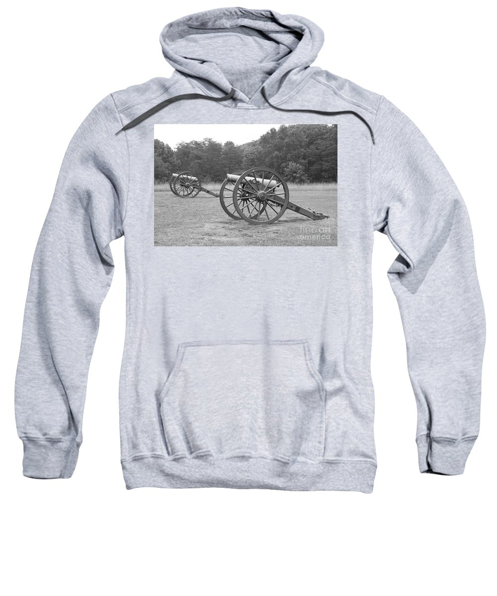 Cannon Sweatshirt featuring the photograph Cannons On Manassas Battlefield by Christiane Schulze Art And Photography