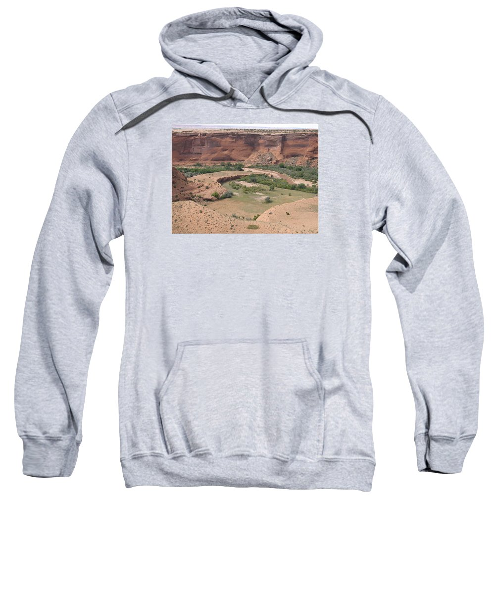 Canyon Sweatshirt featuring the photograph Canyon De Chelly View by Christiane Schulze Art And Photography