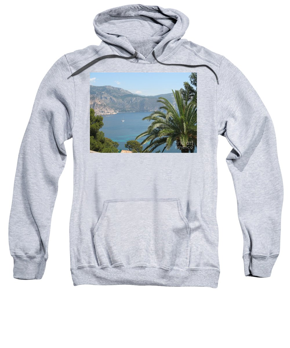Mediterranean Sea Sweatshirt featuring the photograph Cap Ferrat by Christiane Schulze Art And Photography