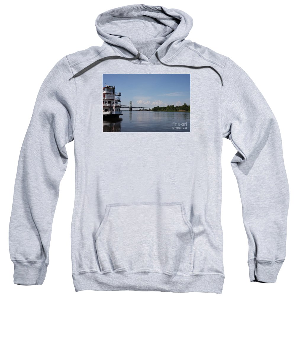 River Sweatshirt featuring the photograph Cape Fear River by Christiane Schulze Art And Photography
