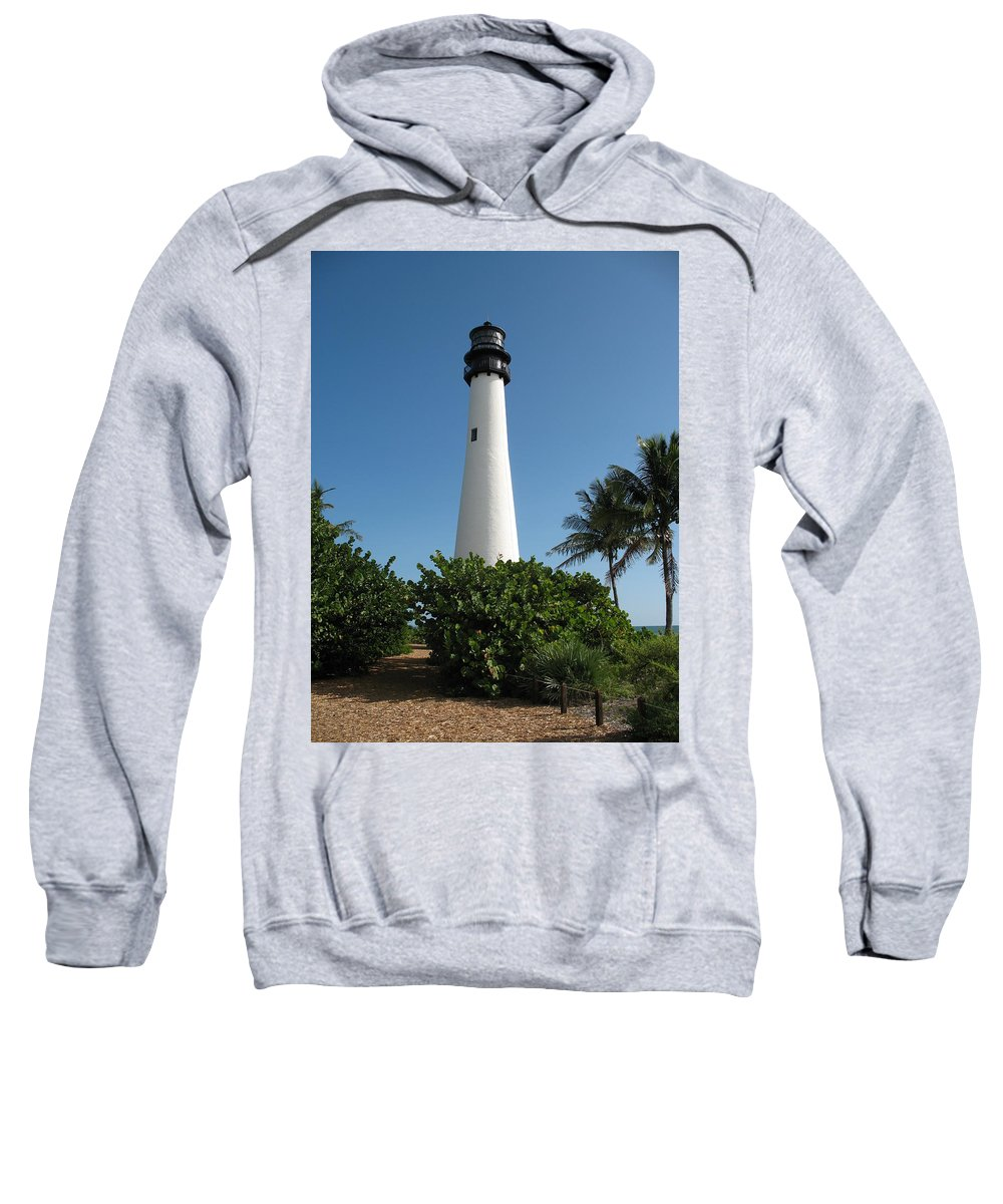 Lighthouse Sweatshirt featuring the photograph Cape Florida Lightstation by Christiane Schulze Art And Photography