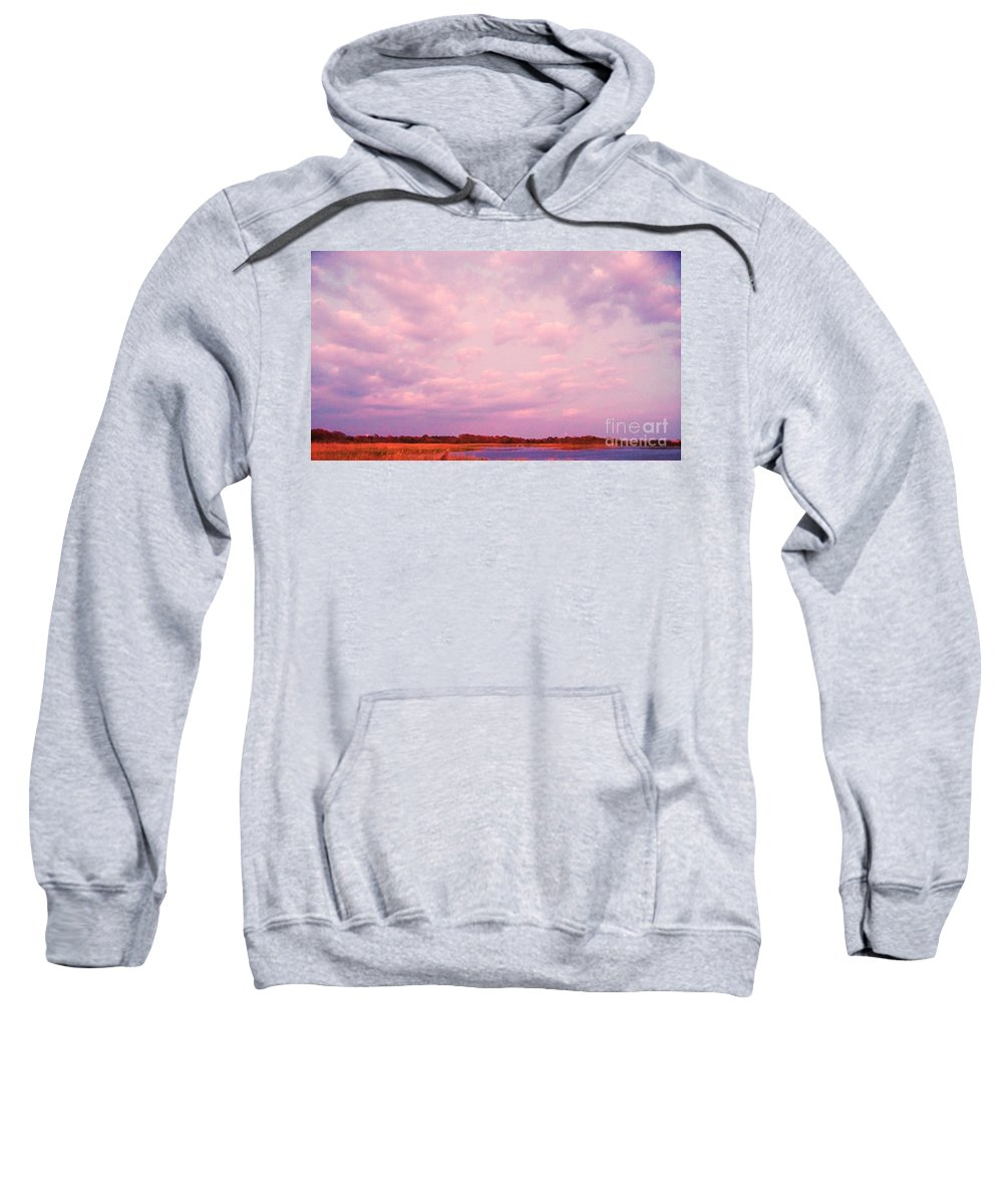 Cape May Sweatshirt featuring the painting Cape May Point by Eric Schiabor