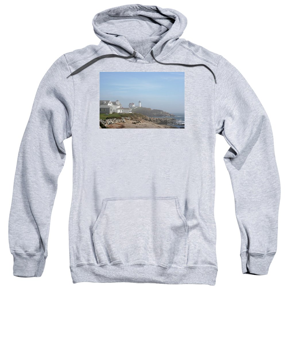 Lighthouse Sweatshirt featuring the photograph Cape Neddick Lighthouse IIi by Christiane Schulze Art And Photography