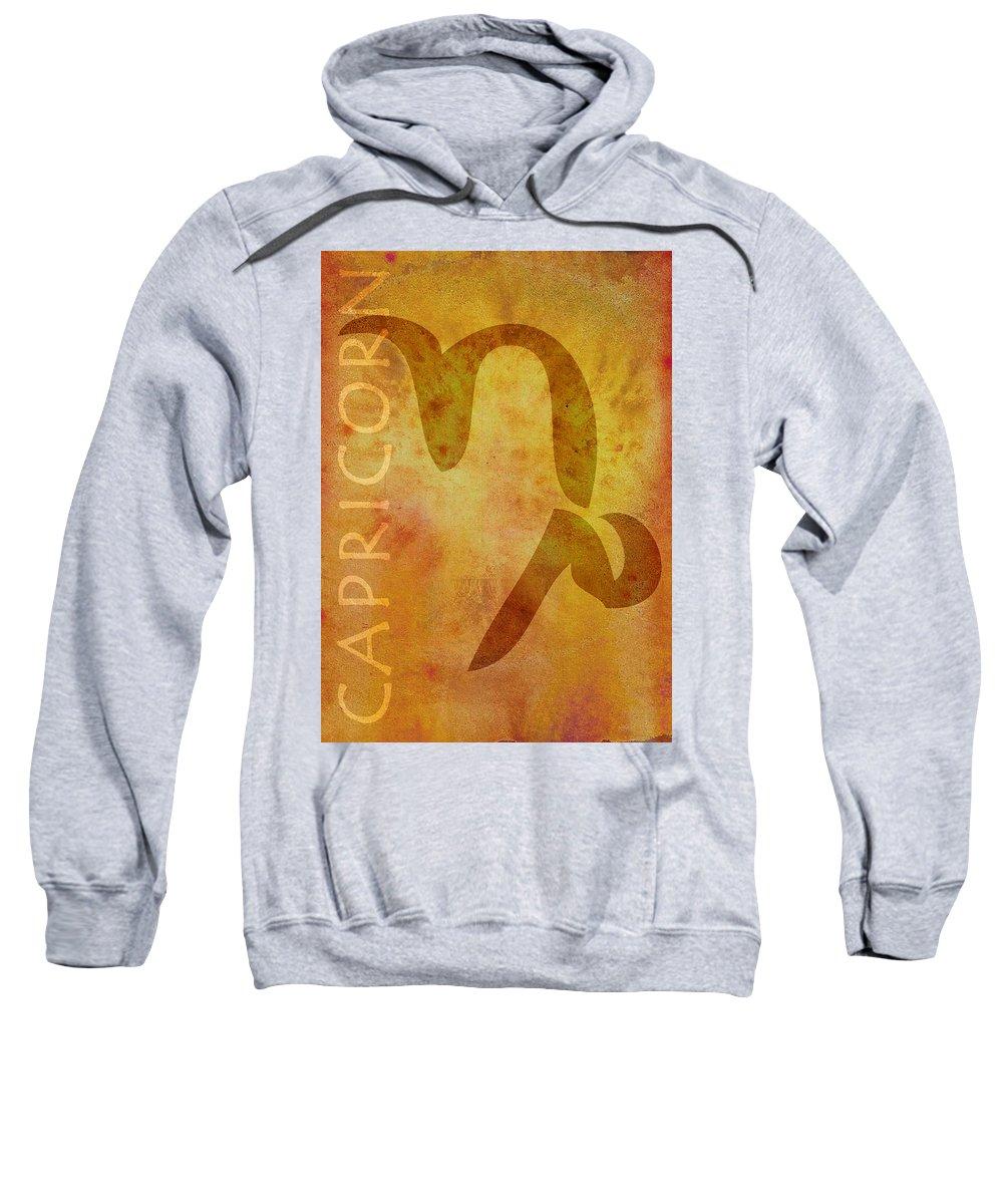 Capricorn Symbol Sweatshirt featuring the digital art Capricorn by Joelle Bhullar
