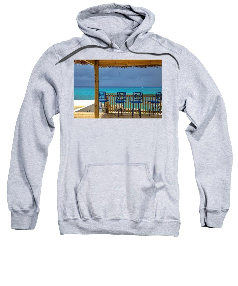 Sky Sweatshirt featuring the photograph Caribbean View-island Grill Grand Cayman by Eti Reid