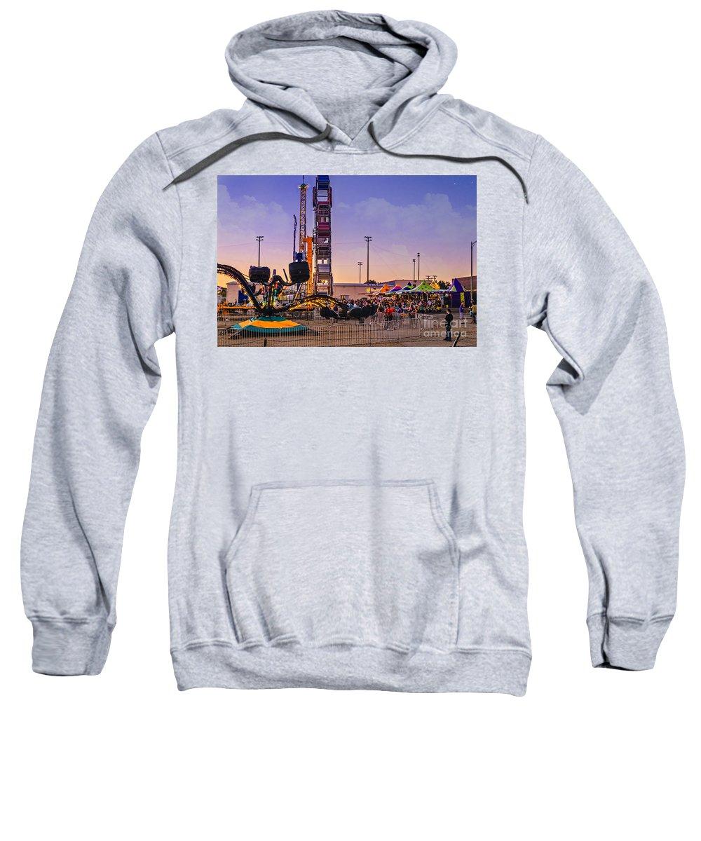 Carousel Sweatshirt featuring the photograph Carousel by Viktor Birkus