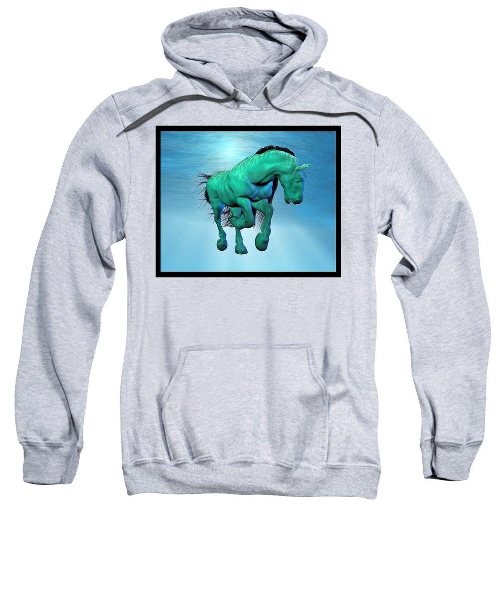 Horse Sweatshirt featuring the digital art Carousel Xii by Betsy Knapp