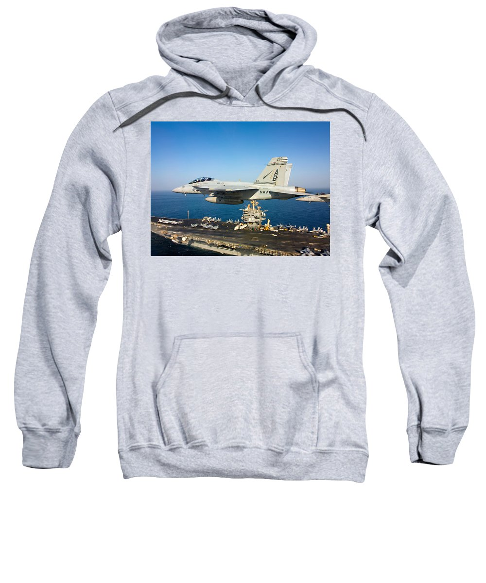 Sailors Sweatshirt featuring the photograph Carrier Below by Ricky Barnard