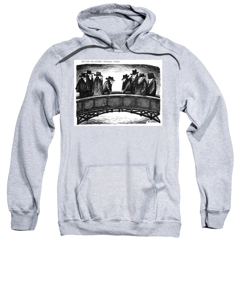 1962 Sweatshirt featuring the drawing Powers Trade, 1962 by Edmund Valtman