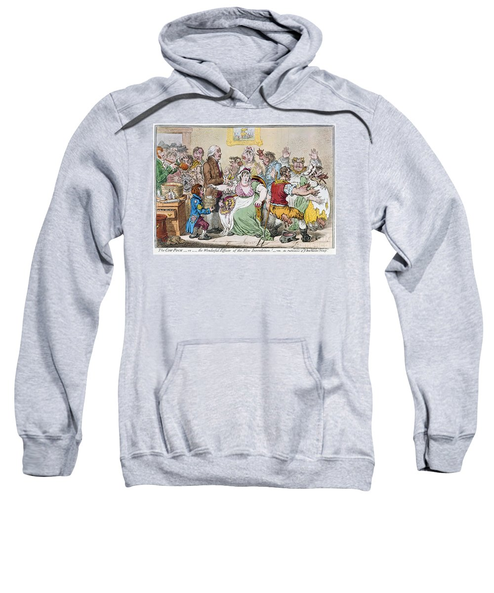 1802 Sweatshirt featuring the photograph Cartoon: Vaccination, 1802 by Granger