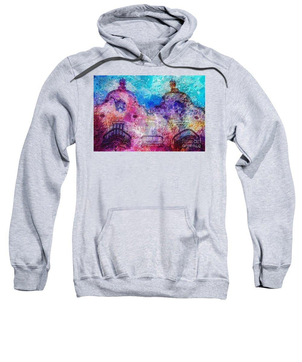 Casa Calvet Sweatshirt featuring the painting Casa Calvet by Mo T