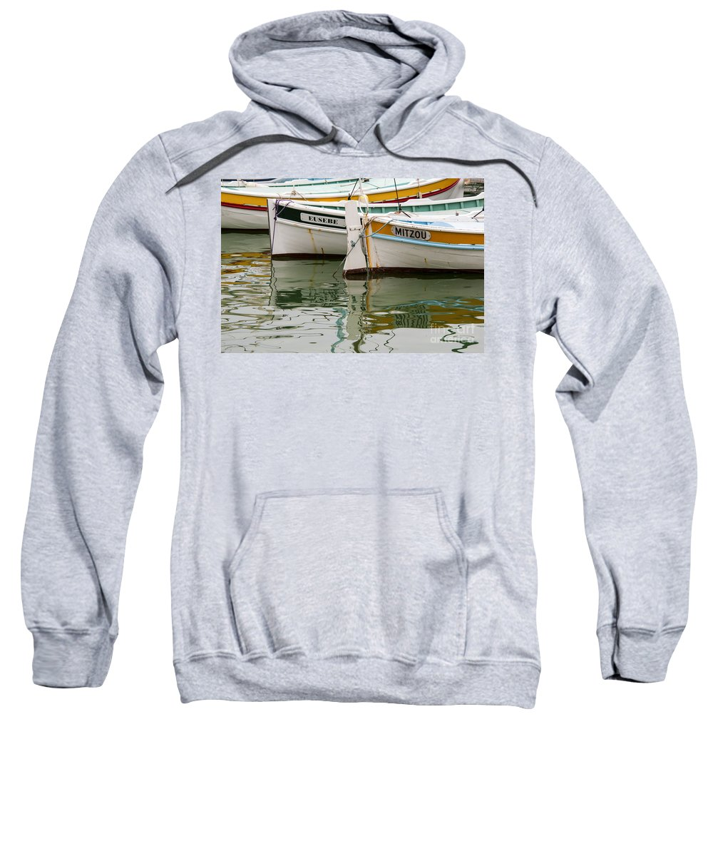 Cassis Sweatshirt featuring the photograph Cassis Calanques by Bob Phillips