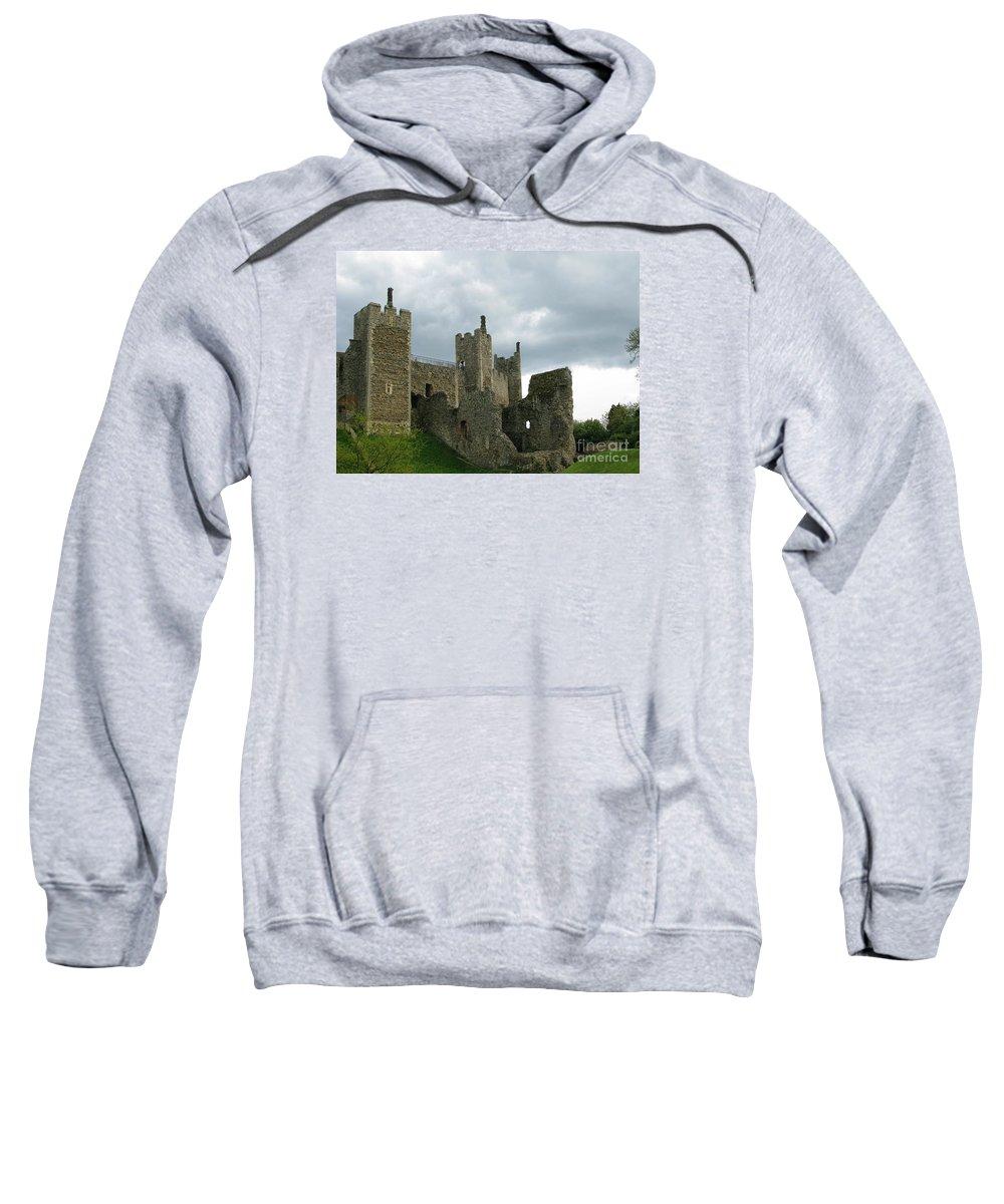 Castle Sweatshirt featuring the photograph Castle Curtain Wall by Ann Horn