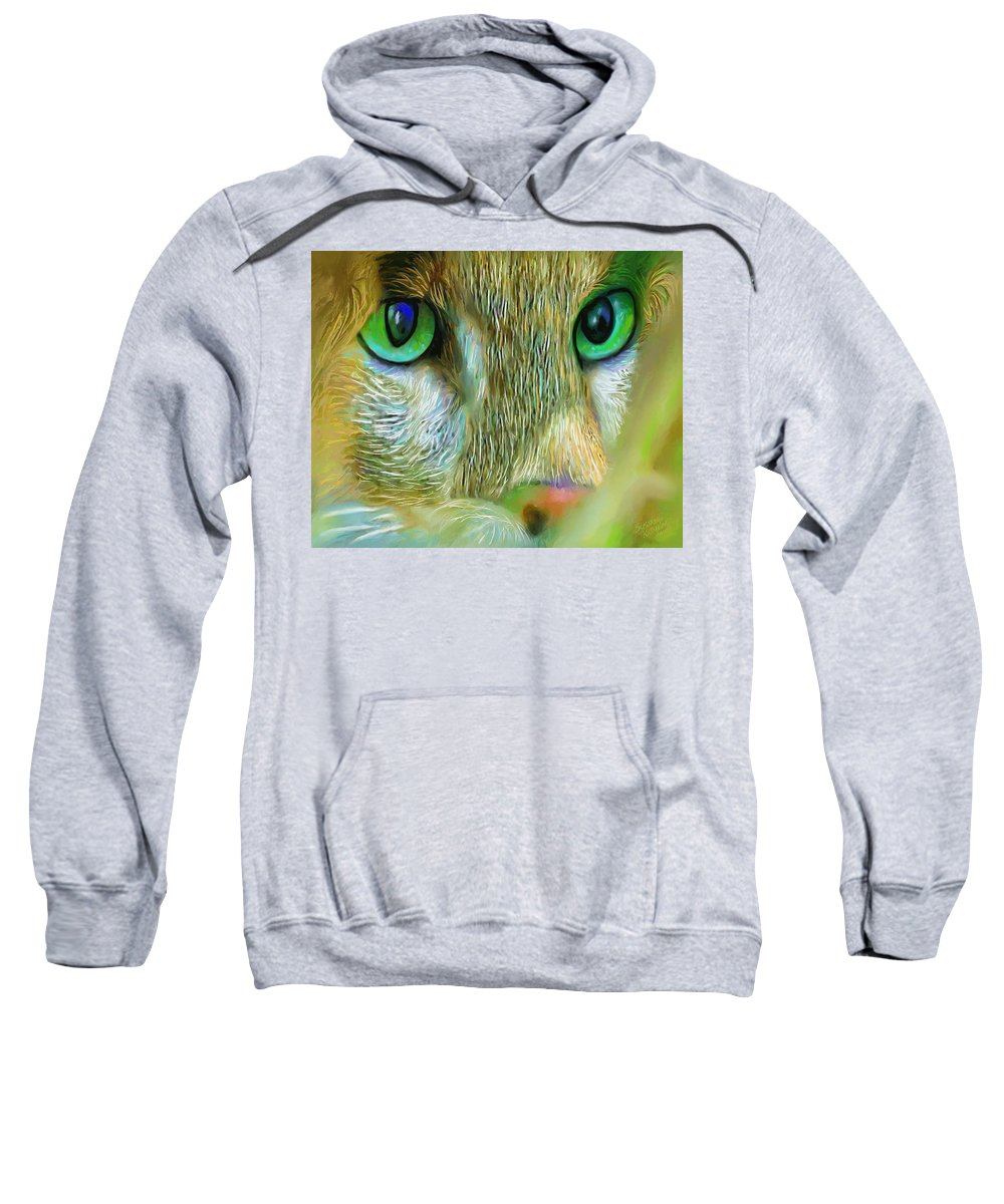 Painting Sweatshirt featuring the painting Cat Eyes by Susanna Katherine