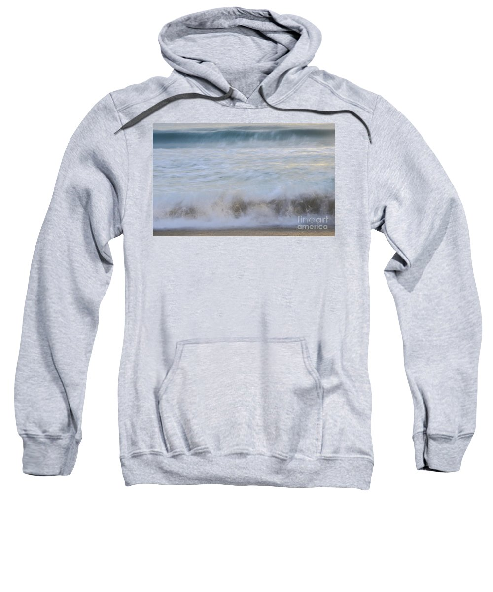 Landscapes Sweatshirt featuring the photograph Catch The Waves by Amanda Sinco
