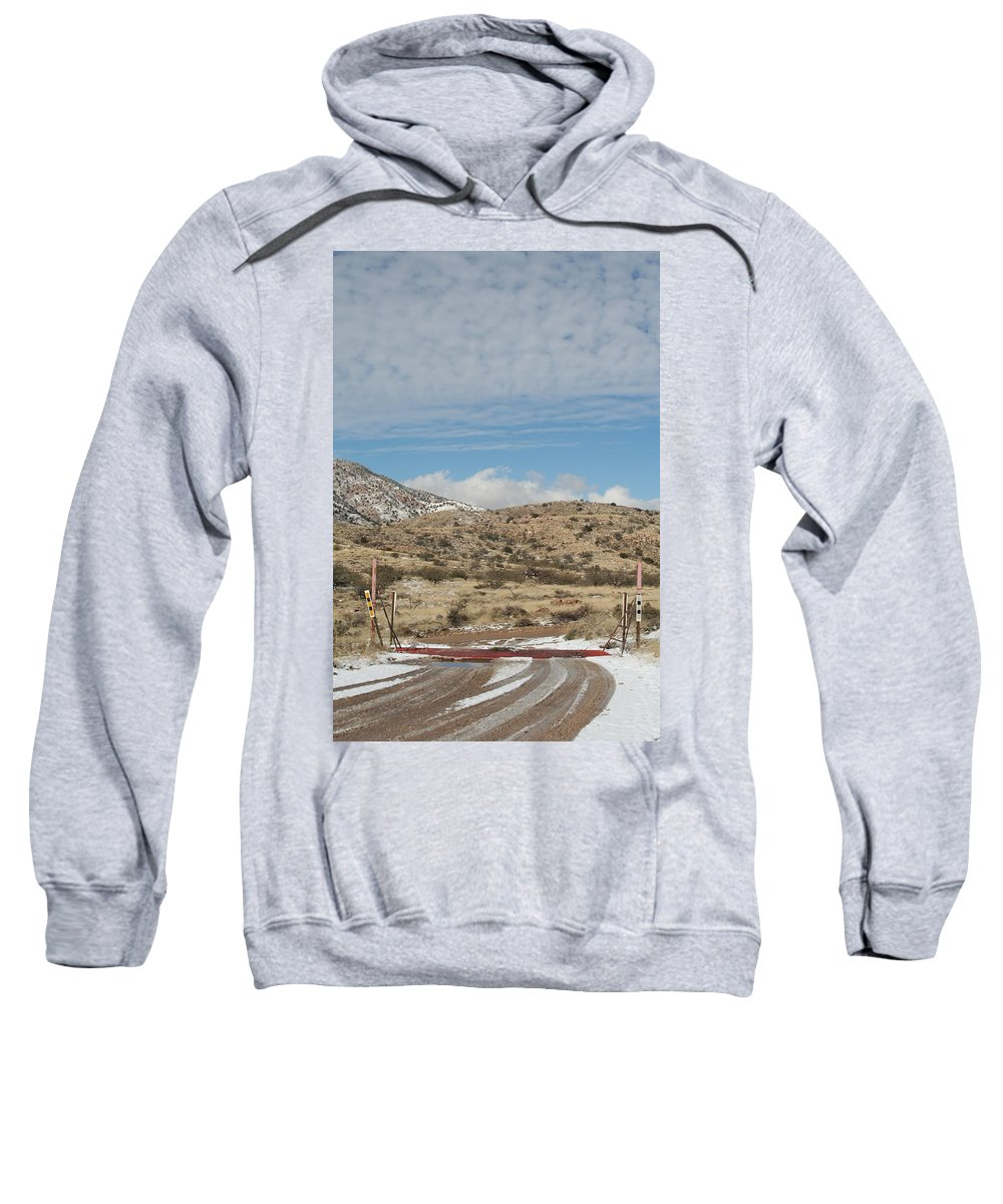 Snow Sweatshirt featuring the photograph Cattle Guard by David S Reynolds