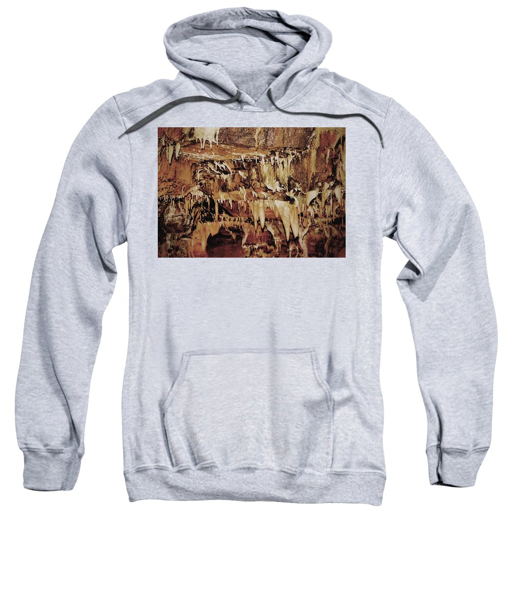 Caverns Sweatshirt featuring the photograph Cavern Beauty by Dan Sproul