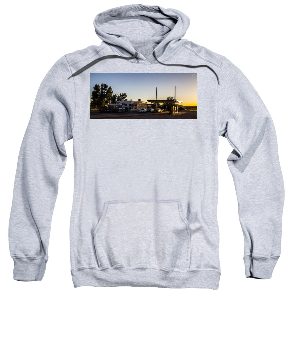 Grand Caverns Sweatshirt featuring the photograph Caverns Pit Stop by Angus Hooper Iii
