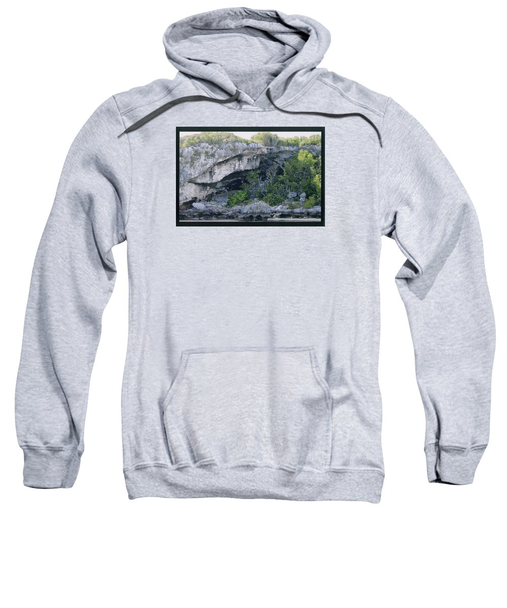 Bahamas Sweatshirt featuring the photograph Caves In The Bahamas by Robert Nickologianis