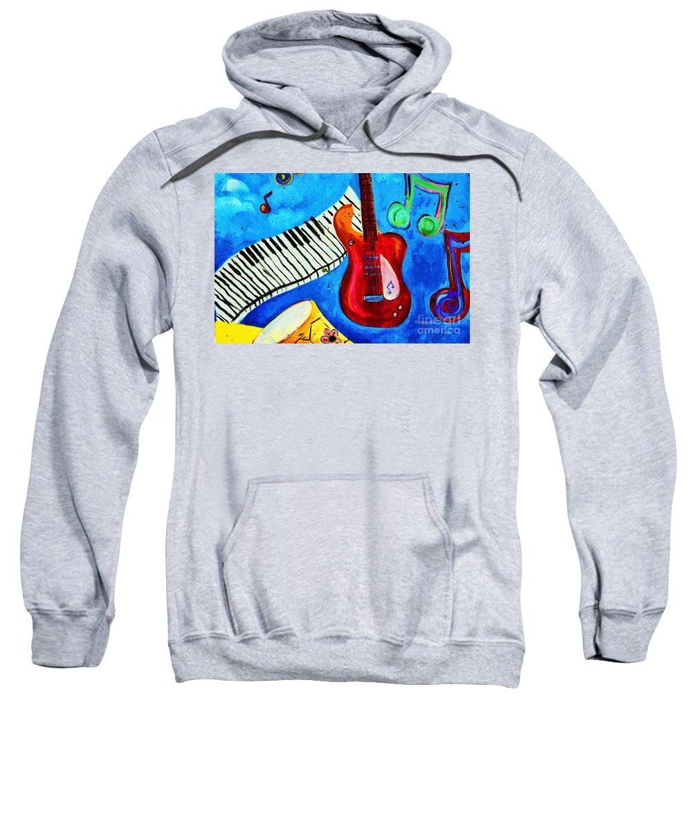 Hoboken Nj Wall Art Sweatshirt featuring the photograph Celebration Hoboken #1 by Regina Geoghan