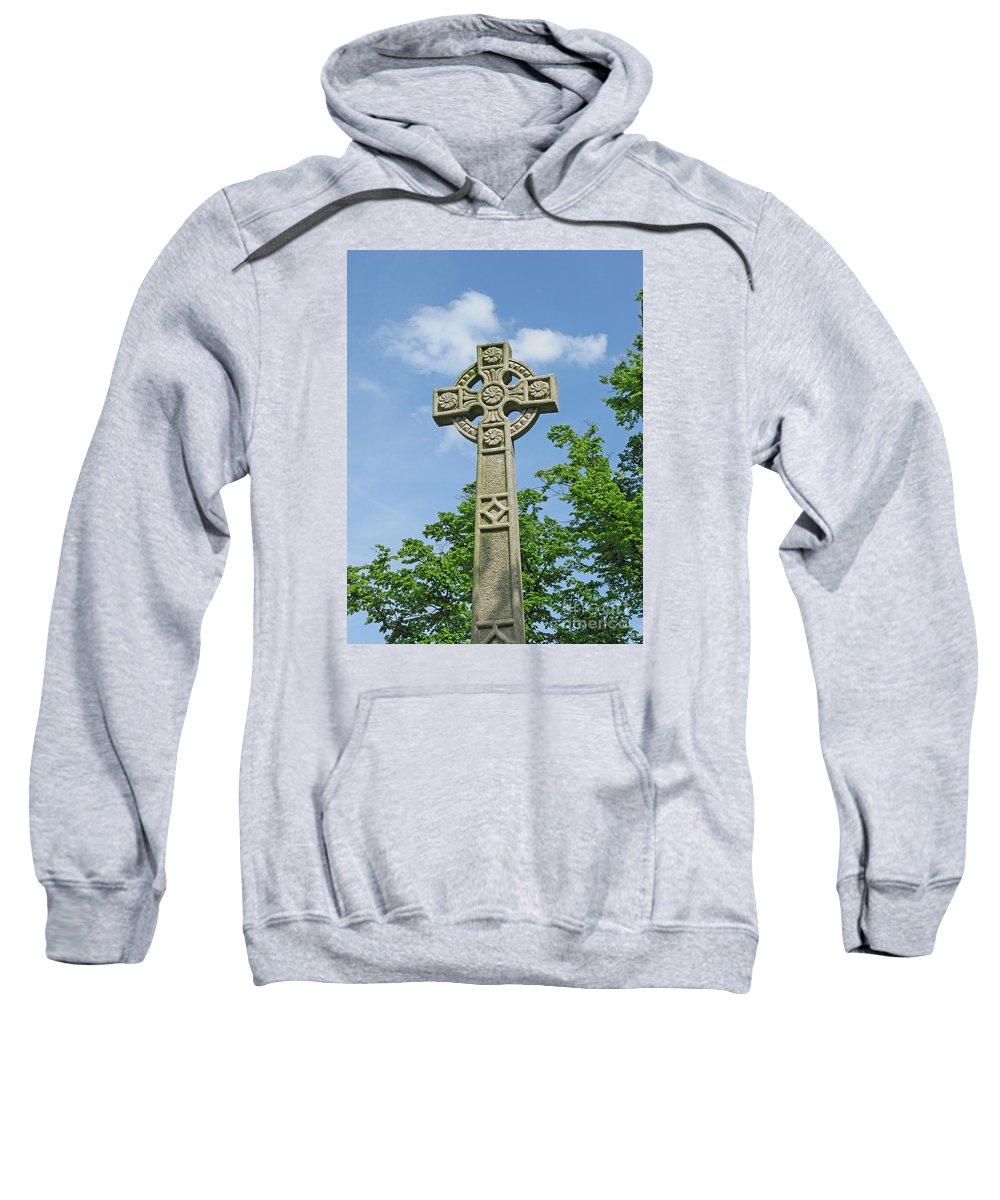 Cross Sweatshirt featuring the photograph Celtic Cross by Ann Horn