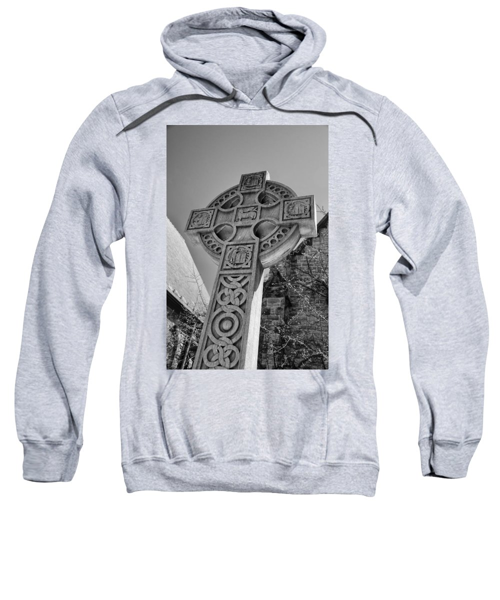 Buffalo Sweatshirt featuring the photograph Celtic Cross At Trinity by Guy Whiteley