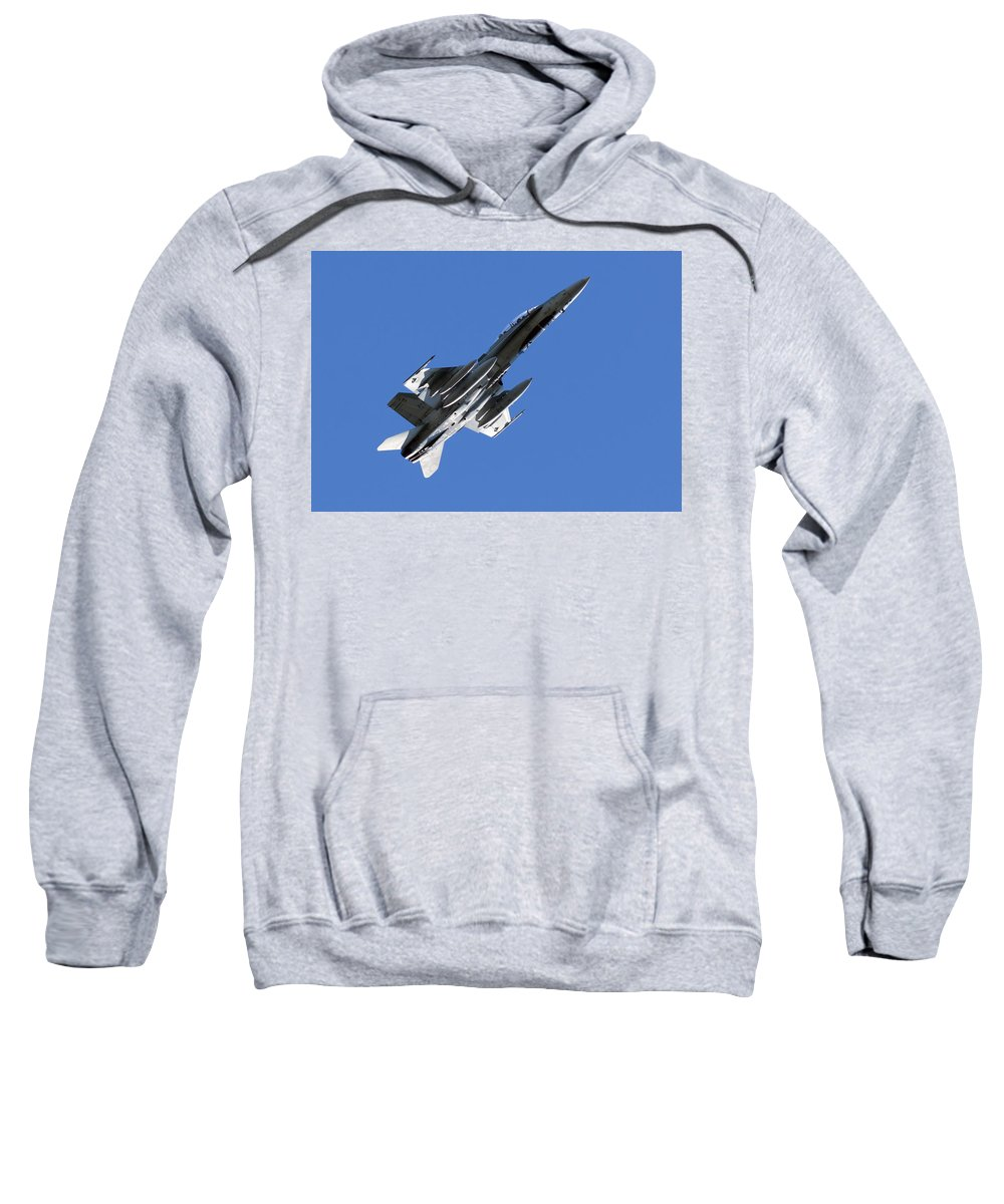Cf-18 Hornet Sweatshirt featuring the photograph Cf-18 Hornet by Cale Best