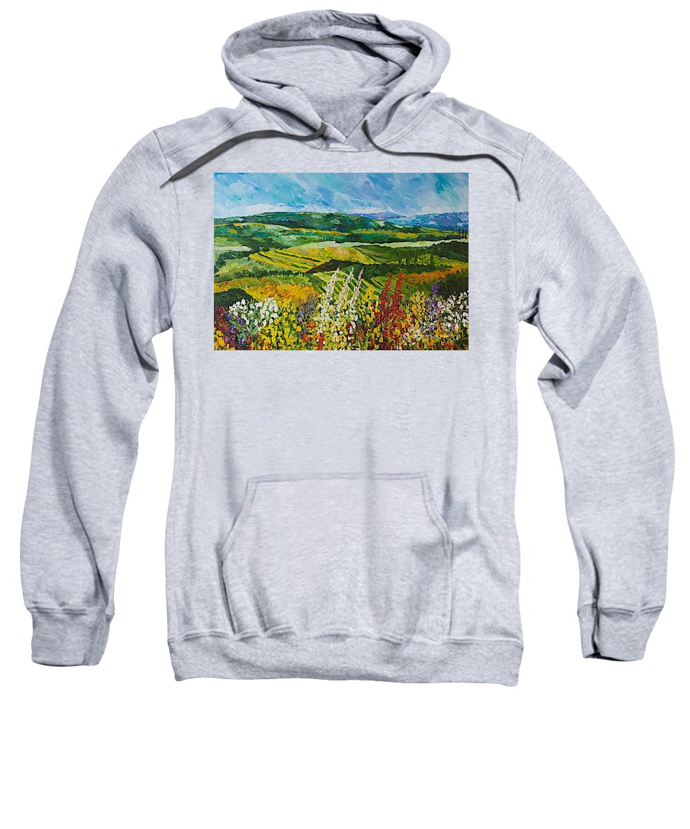 Landscape Sweatshirt featuring the painting Change is in the Air by Allan P Friedlander