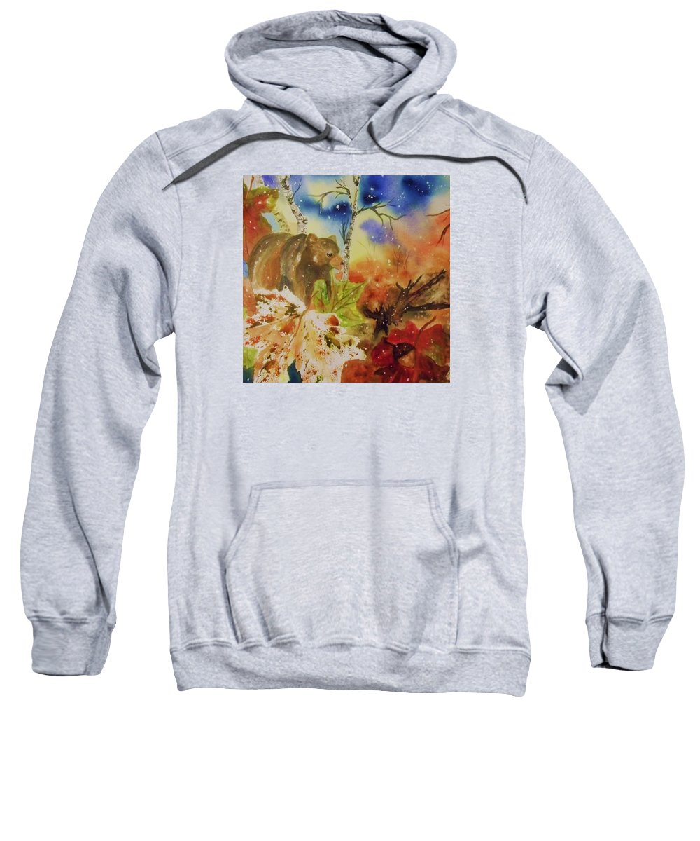 Bear Sweatshirt featuring the painting Changing Of The Seasons - Square Format by Ellen Levinson