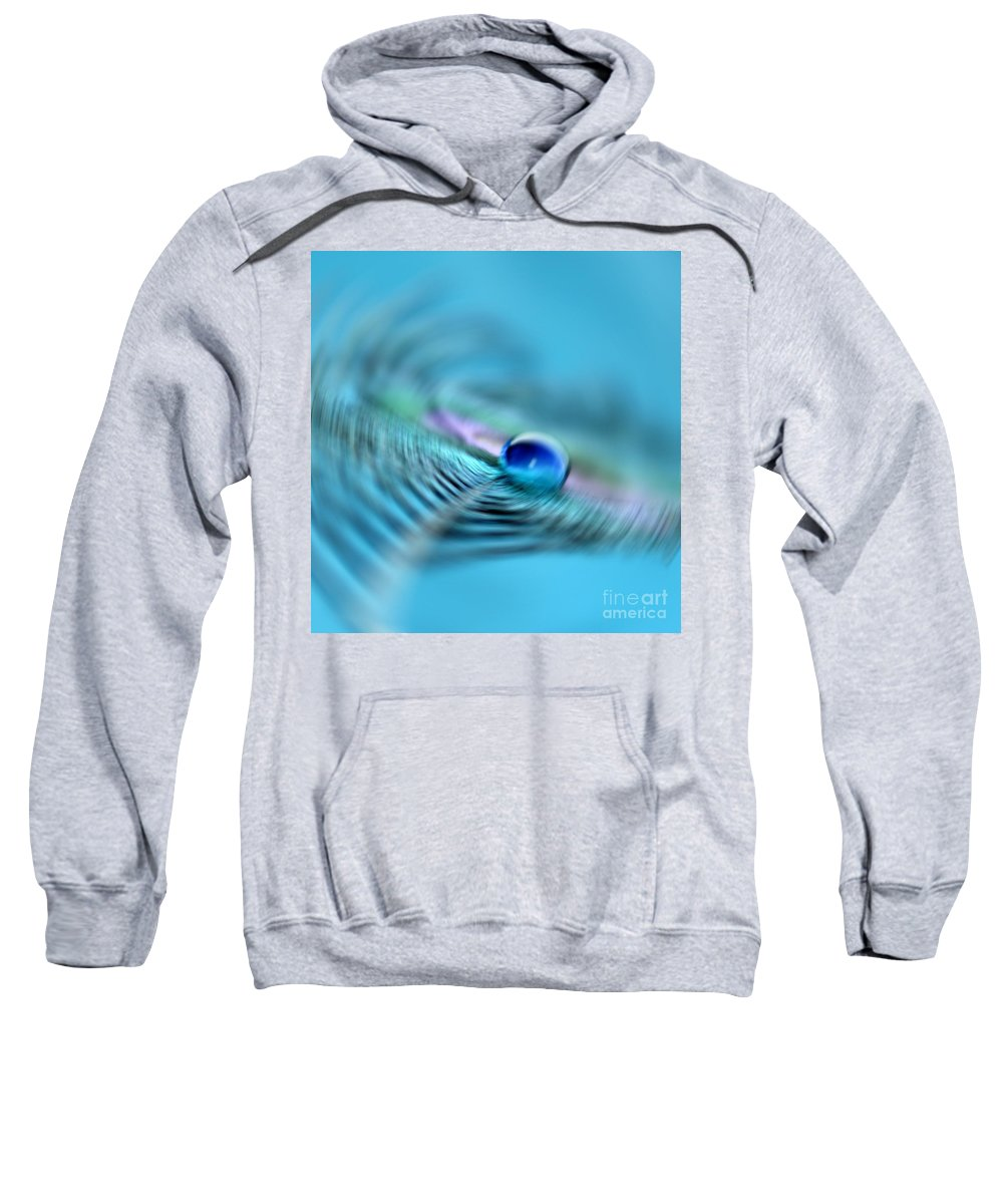 Peacock Feather Sweatshirt featuring the photograph Chaotic Zen by Krissy Katsimbras