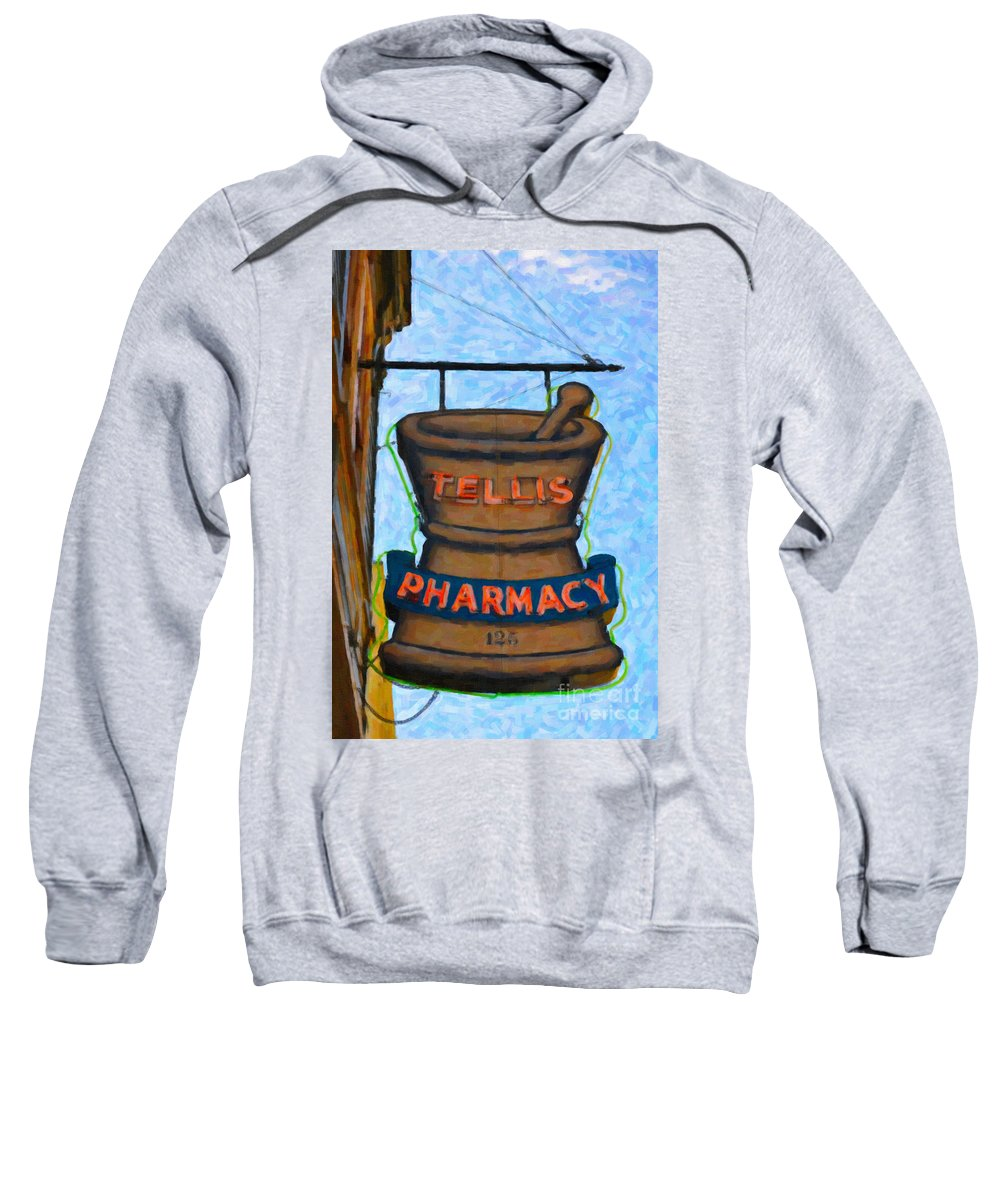Pharmacy Sweatshirt featuring the photograph Charleston Pharmacy by Dale Powell